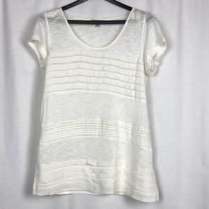 Lucky Brand White Detailed Shirt Size Medium